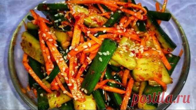 Соседка Кореянка научила меня готовить этот Салат. Невероятные Огурцы по корейски. Покоряет сразу.