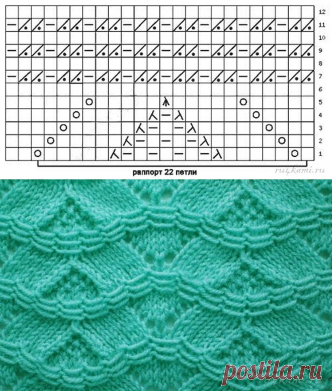 Красивый узор для пуловера (УЗОРЫ СПИЦАМИ) — Журнал Вдохновение Рукодельницы