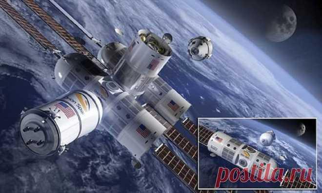 Пора бронировать места в космическом отеле!         (6 фото + 1 видео) . Чёрт побери