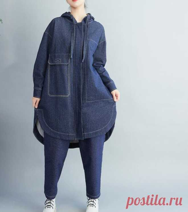 Spring Oversize coat Cotton asymmetric Coat Blouse for | Etsy