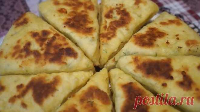 Сырная лепёшка к чаю или вместо хлеба! Универсальное блюдо