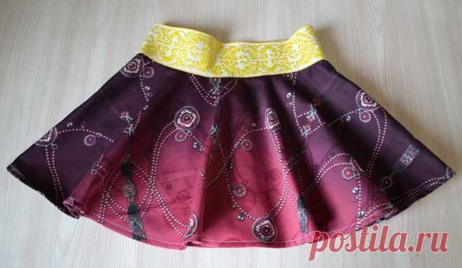 Юбка для девочки своими руками   Как сшить юбку-солнце на резинке