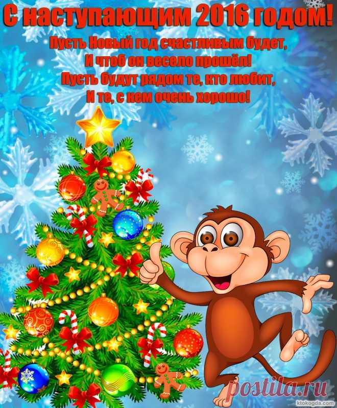 открытки обезьян к 2016 году постоянно слежу