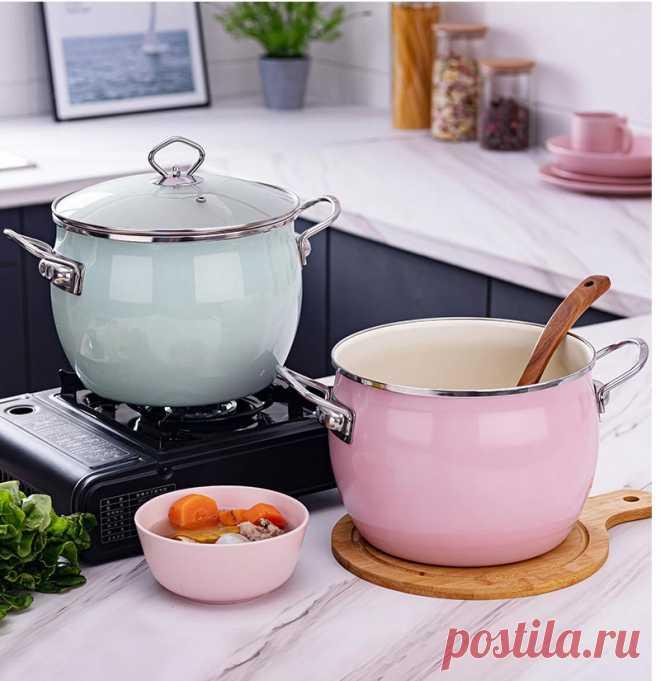2020 антипригарный эмалированный суповый горшок с бинауральным домашним молочным горшком кипящий суп кастрюля для тушение кухонные принадлежности инструмент для приготовления пищи|Кастрюли для супа и бульона| | АлиЭкспресс
