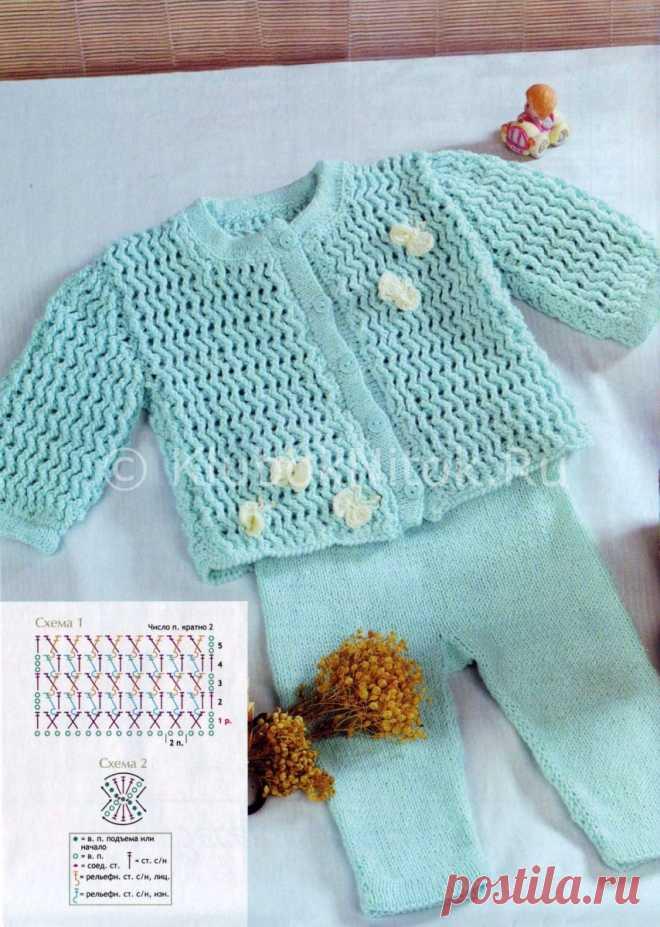 костюм для девочки вязание для девочек вязание спицами и крючком