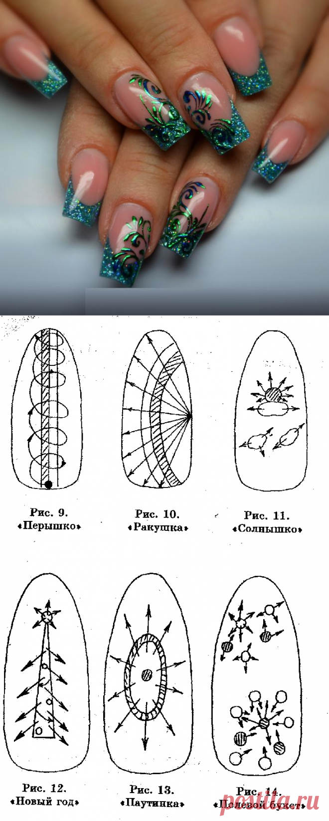 How to draw simple beautiful patterns on nails