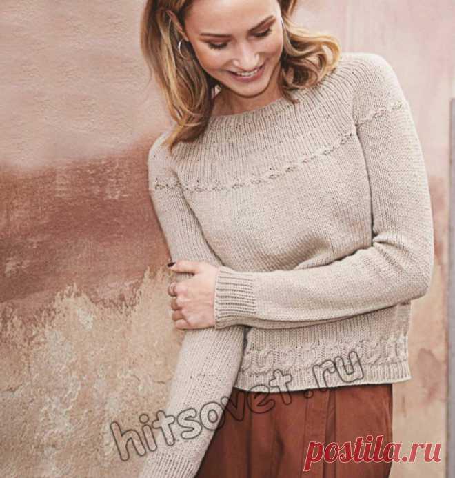 Вязание свитера единым полотном - Хитсовет