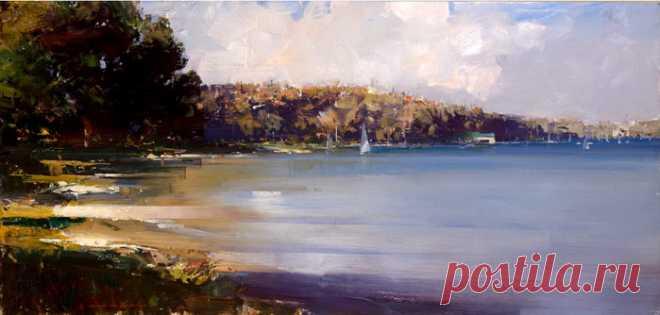 Пастозные пейзажи Кэна Найта (Ken Knight, Австралия)