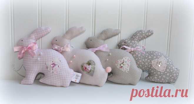 """Кролики """"шебби"""" интерьерный декор"""