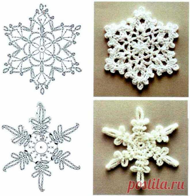Схемы снежинок крючком — DIYIdeas
