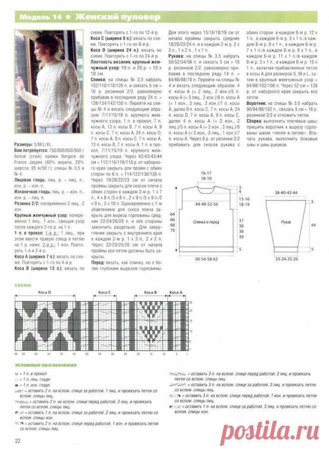 Модели вязания спицами с подробными схемами