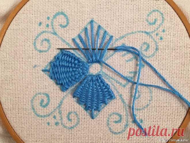 Красивая вышивка, сделанная переплетением нитей: мастер-класс — DIYIdeas