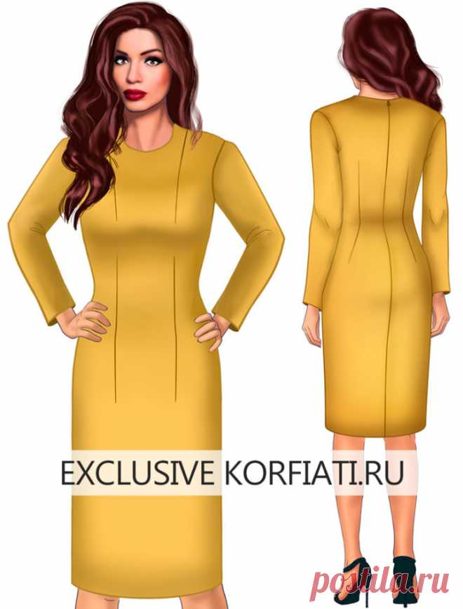 El patrón-base del vestido para skachivaniya de A.Korfiati