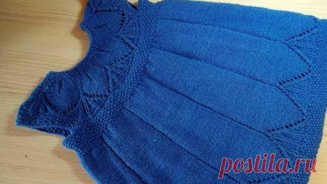 Платье с ажурной кокеткой спицами мастер класс для начинающих 1 часть