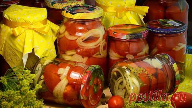 Резаные дольками помидоры на зиму, с луком. Пошаговый рецепт с видео