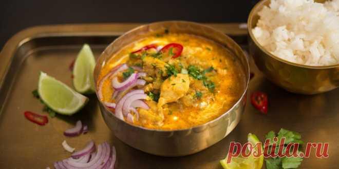 Курица в сливочно-томатном соусе по-индийски