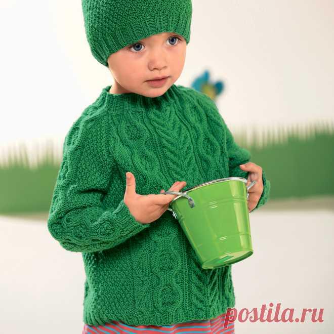 детский свитер с косами схема вязания спицами вязание для