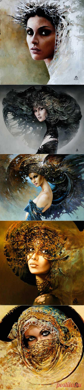 Польский художник Кароль Бак (Karol Bаk). Женский образ.