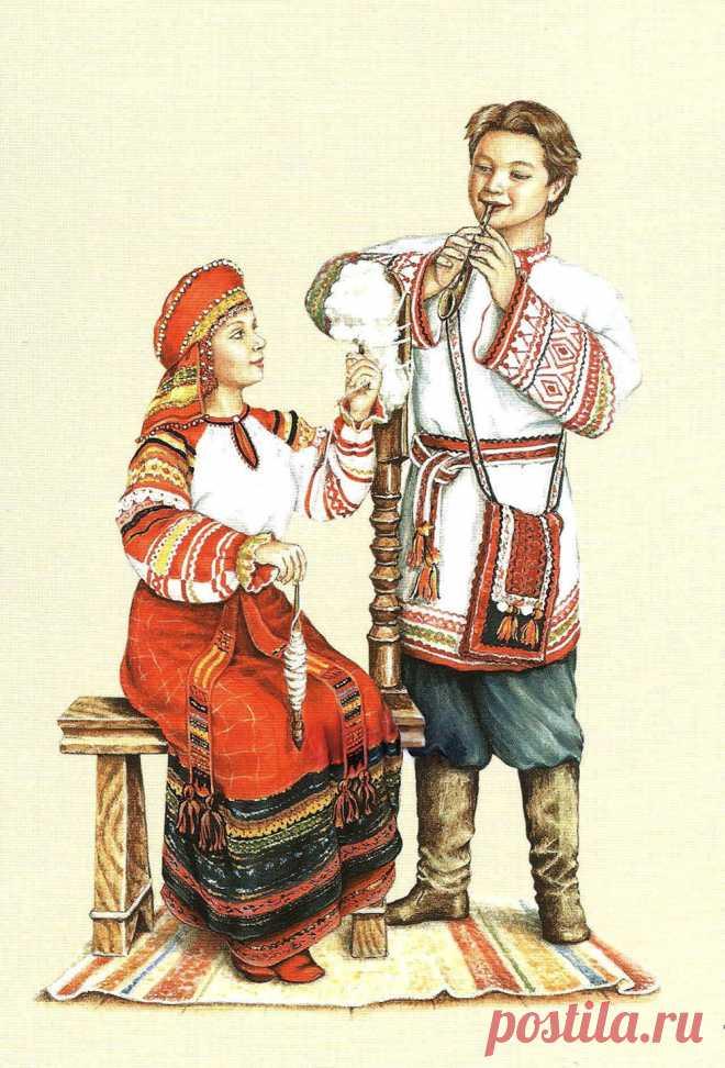 Открытки народного костюма, юбилеем отцу
