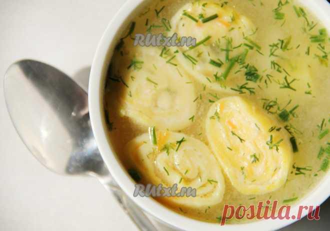 Вкусный куриный суп с сырными рулетиками (рецепт с фото) | RUtxt.ru
