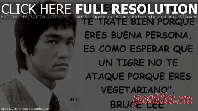 Las 10 Mejores Frases De Bruce Lee Psicologia постила