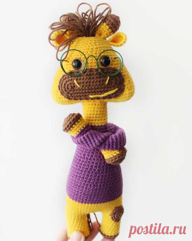PDF Рафф Жираф крючком. FREE crochet pattern; Аmigurumi animal patterns. Амигуруми схемы и описания на русском. Вязаные игрушки и поделки своими руками #amimore - Жираф, жирафик.
