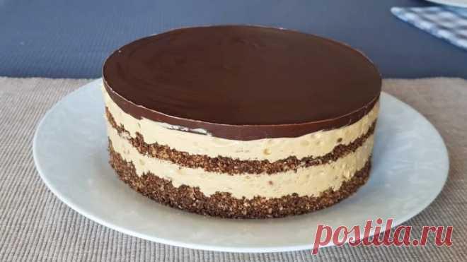 Торт Сникерс БЕЗ ДУХОВКИ! Дети будут в восторге