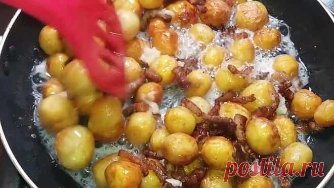 ОБЪЕДЕНИЕ из НИЧЕГО! Как Очень Вкусно Приготовить Молодой Картофель. Вкуснее чем