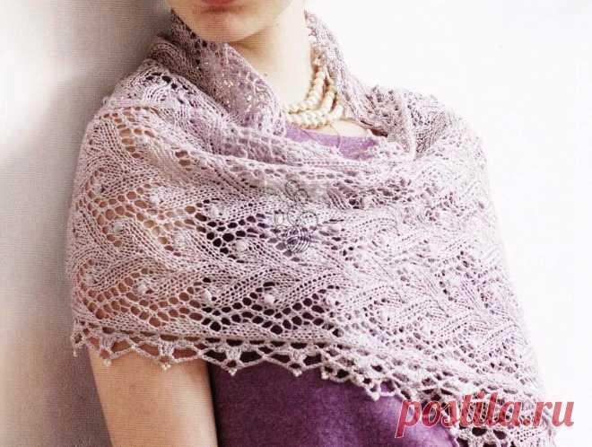Два красивых вязаных шарфа и палантин. Схемы и описание к ним   Что я натворила?!   Яндекс Дзен