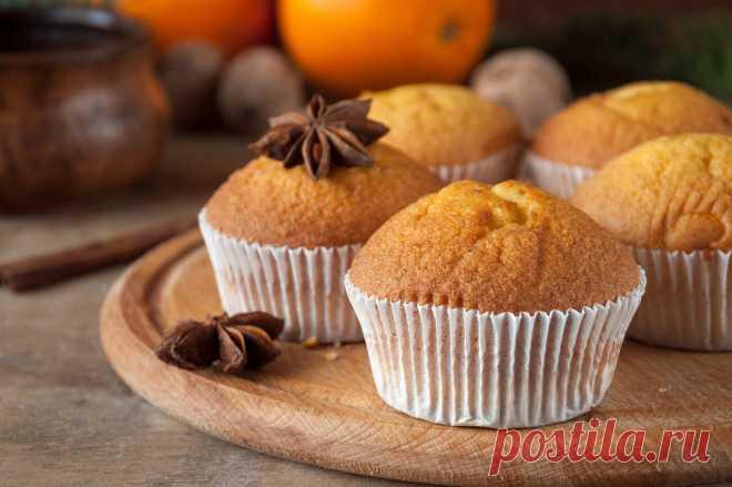 Апельсиновые кексы на кислом молоке рецепт с фото пошагово