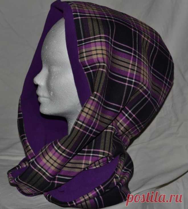 Шьем модный шарф-хомут с капюшоном — очень простая выкройка! | Краше Всех