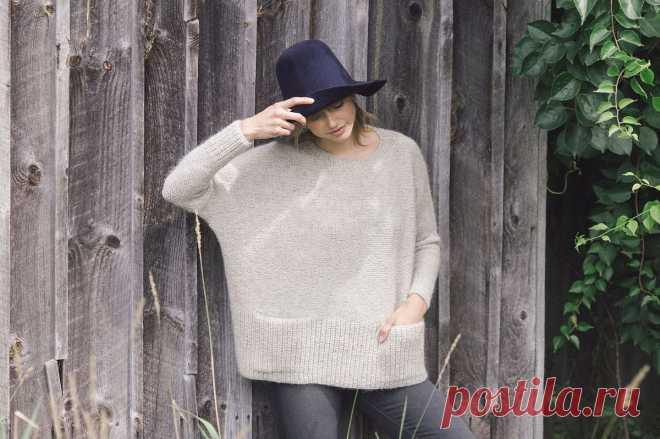 Свободный пуловер модный Ash - Вяжи.ру