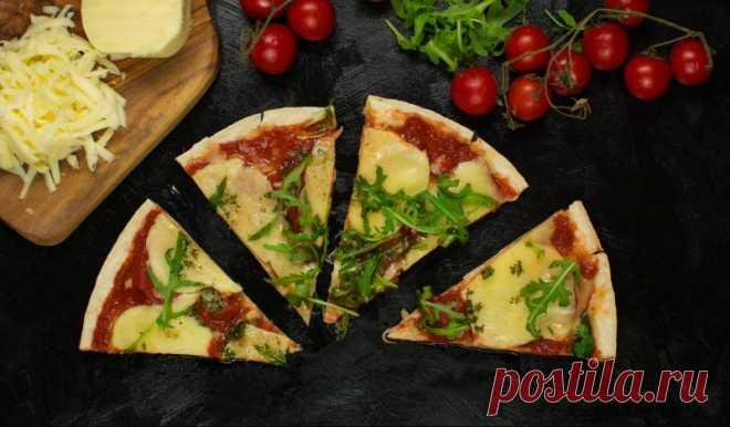 Быстрая пицца на тортилье в микроволновке