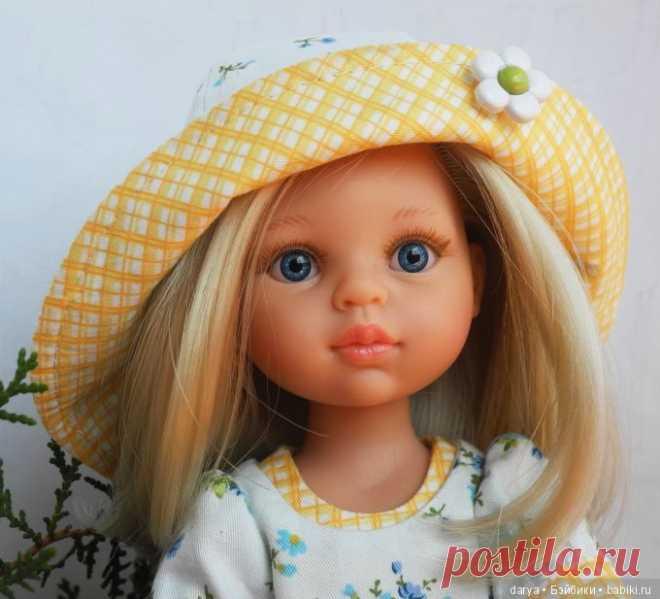 Панамка для куклы Паола Рейна / Выкройки одежды для кукол-детей, мастер классы / Бэйбики. Куклы фото. Одежда для кукол