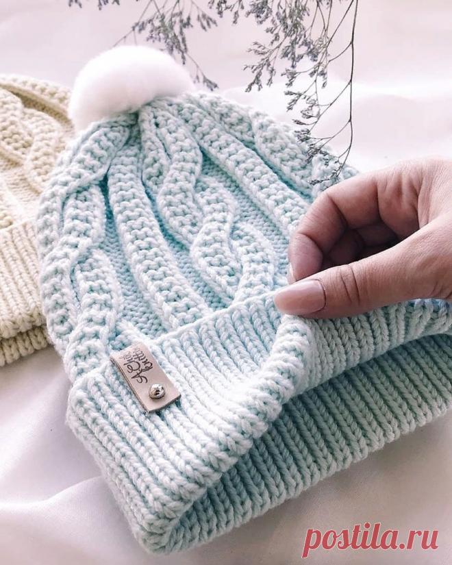 Красивые шапки спицами и крючком. Утепляемся к зиме. | Вяжем-повяжем... | Яндекс Дзен