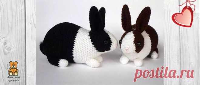 Вязание кролика крючком: подробная схема | Амигуруми крючком - Блог