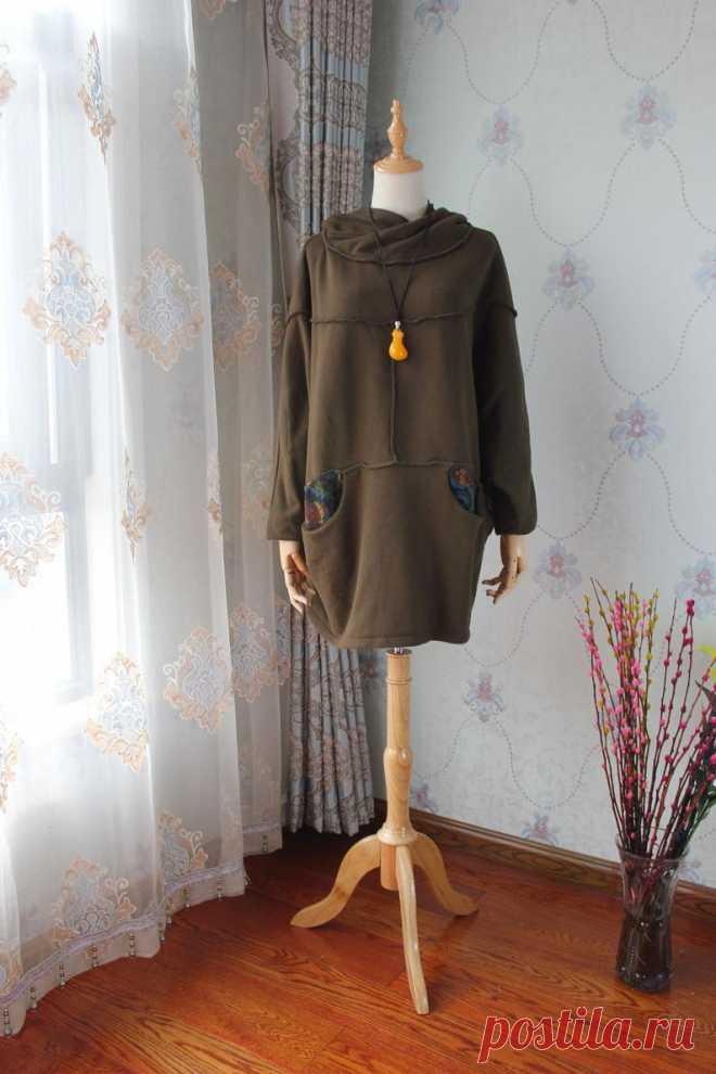 Army green Oversized Hooded coat women jacket Longsleeve | Etsy