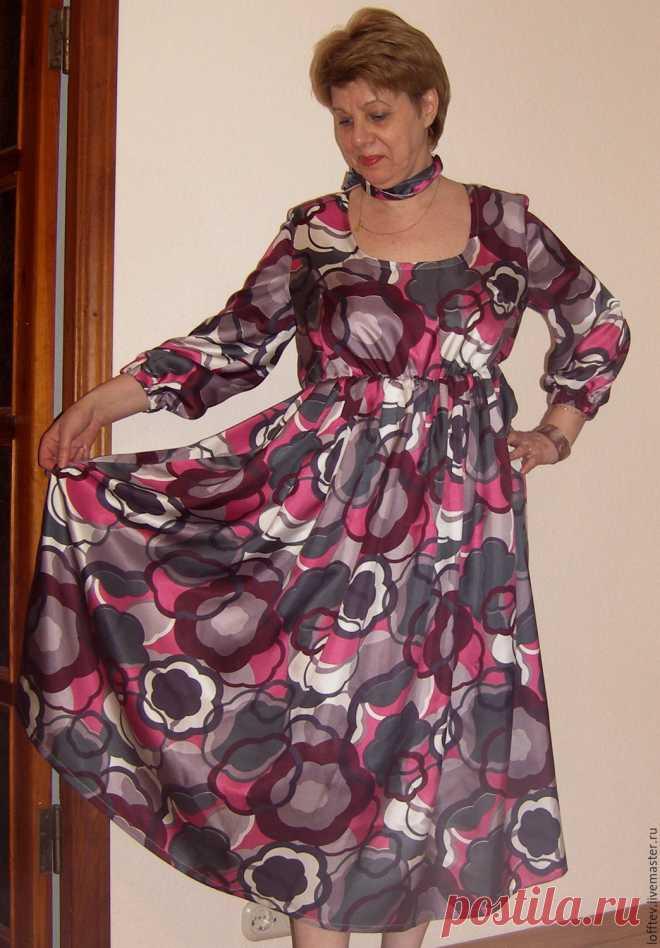 0479bfccc17 Платье шелковое Миди – купить в интернет-магазине на Ярмарке Мастеров с  доставкой Платье шелковое