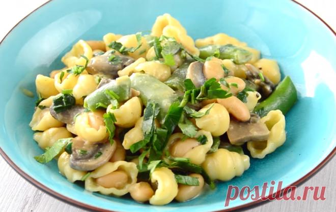 Вегетарианская паста, готовлю в пост или в разгрузочные дни