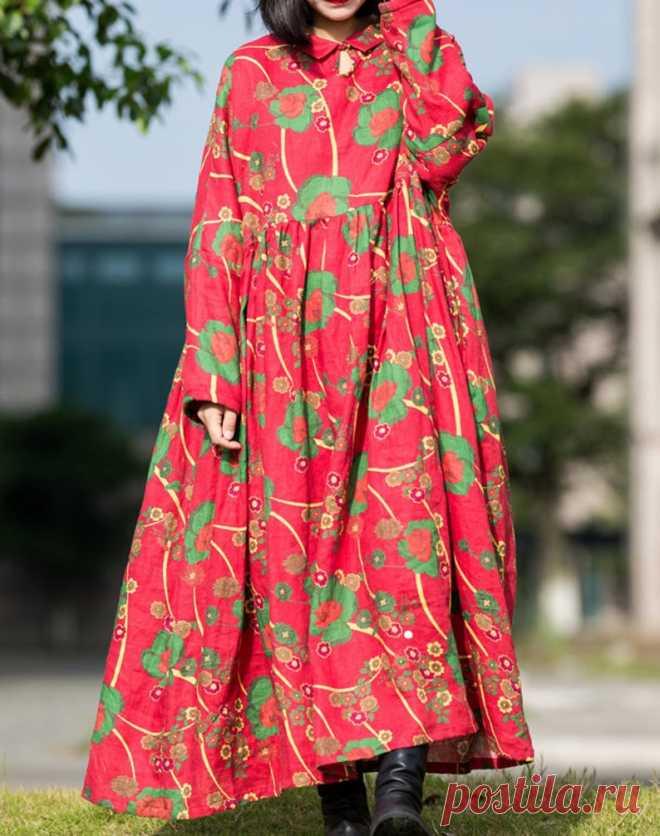 Womens Winter dresses Warm Linen dress plus size clothes | Etsy