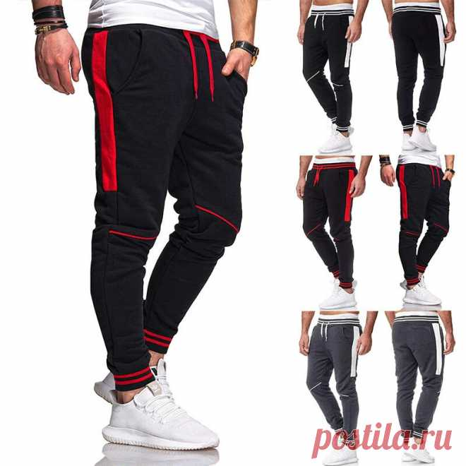Men's jogger sweatpants casual drawstring pants cotton breathable comfortable hiking pants Sale - Banggood.com