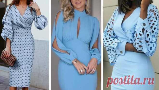 20 миди-платьев с интересной деталью — необычными рукавами Оцените 20 роскошных миди-платьев с интересными и необычными рукавами.