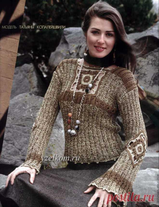 Пуловер с мотивом