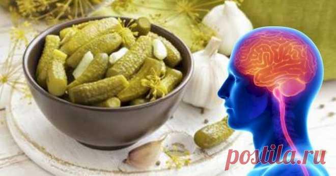 Полезные свойства соленых огурцов для психики и мозга