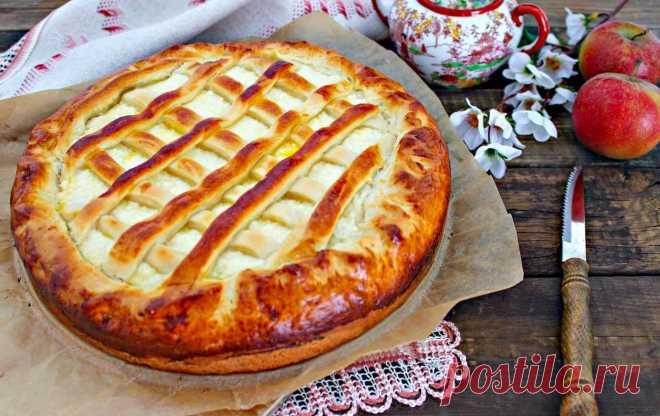 Пирог из дрожжевого теста с творогом в духовке рецепт с фото пошагово - 1000.menu