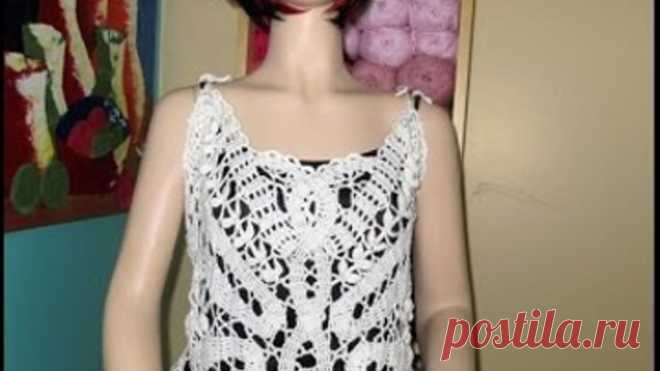 Crochet bruges lace butterfly summer blouse Part #2 - with Ruby Stedman.