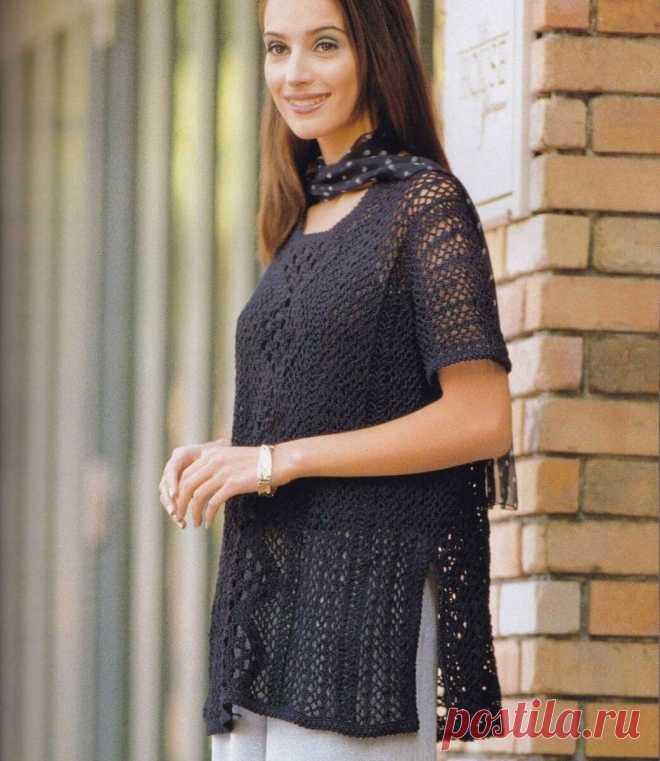 Вязаные туники крючком сделают ваш образ элегантным. | Asha. Вязание и дизайн.🌶 | Яндекс Дзен