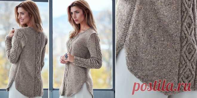 пуловер с косами Oydis вязаный спицами пуловер с косами Oydis с