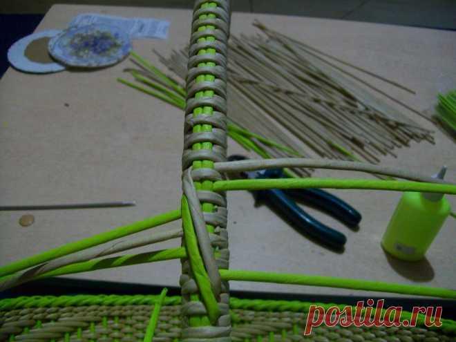 Фото мастер-класс.   Плетение из газет