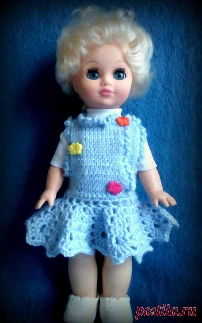 Платье (сарафан) для куклы Лены (фабрика